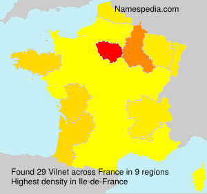 Surname Vilnet in France