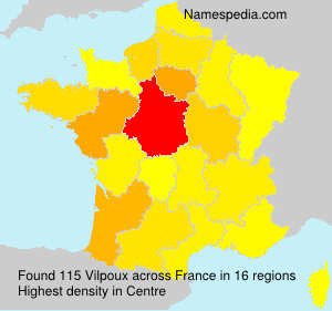 Surname Vilpoux in France