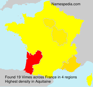 Surname Vimes in France