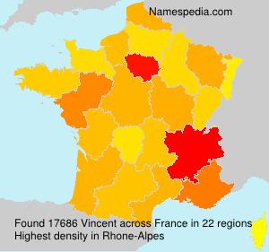 Surname Vincent in France