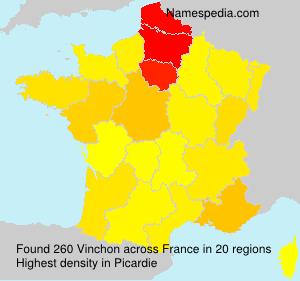 Surname Vinchon in France