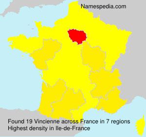 Surname Vincienne in France