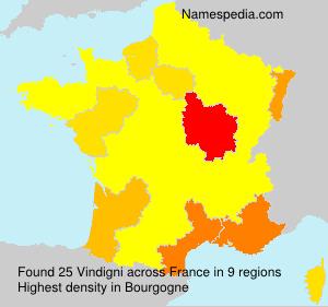 Surname Vindigni in France