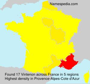 Familiennamen Vintenon - France
