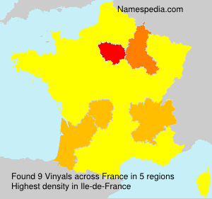 Surname Vinyals in France