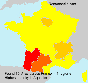 Surname Virac in France