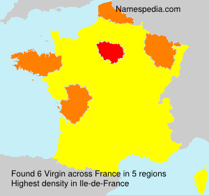 Surname Virgin in France