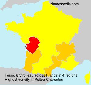 Familiennamen Virolleau - France