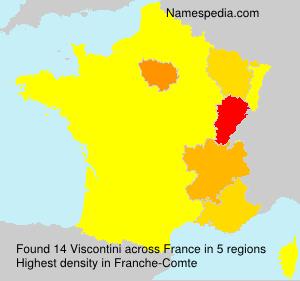 Familiennamen Viscontini - France