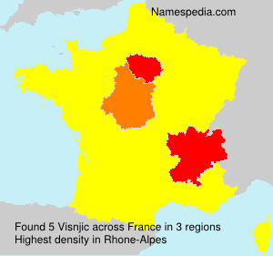 Surname Visnjic in France