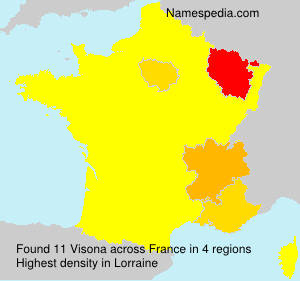 Surname Visona in France