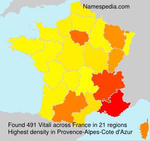 Familiennamen Vitali - France