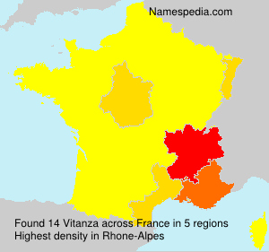 Surname Vitanza in France