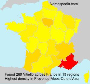 Surname Vitiello in France