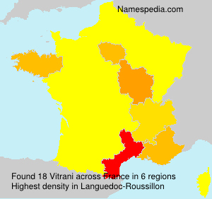 Surname Vitrani in France