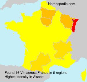 Surname Vitt in France