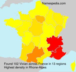 Familiennamen Vivian - France