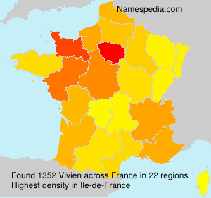 Surname Vivien in France