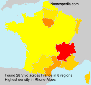 Surname Vivo in France