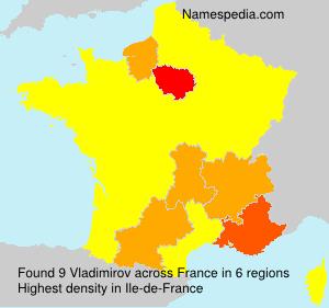 Surname Vladimirov in France