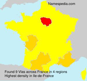 Surname Vlas in France