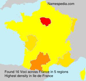 Familiennamen Voci - France