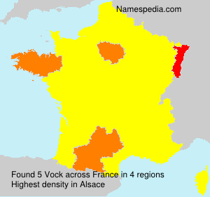 Surname Vock in France