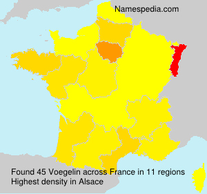 Surname Voegelin in France