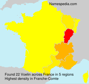 Surname Voelin in France