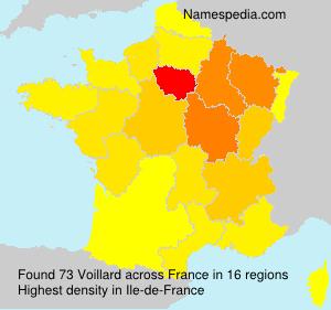 Familiennamen Voillard - France
