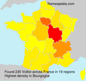 Surname Voillot in France