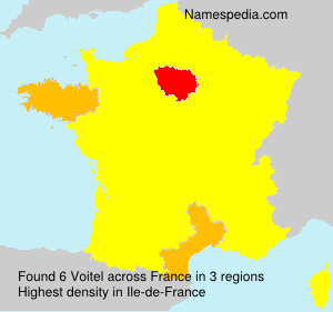 Surname Voitel in France