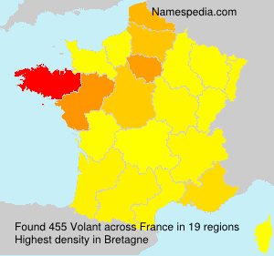 Surname Volant in France