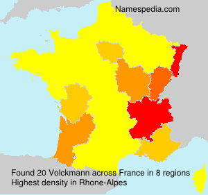 Surname Volckmann in France