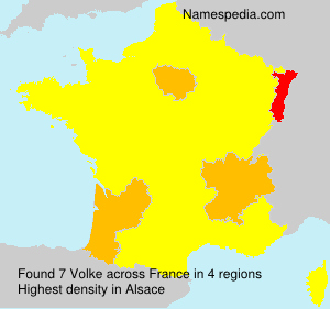 Surname Volke in France