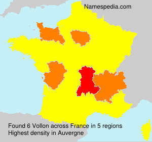 Surname Vollon in France