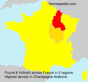 Surname Vollrath in France
