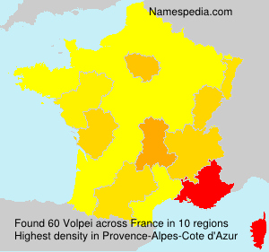 Surname Volpei in France