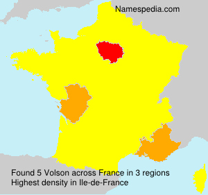 Surname Volson in France
