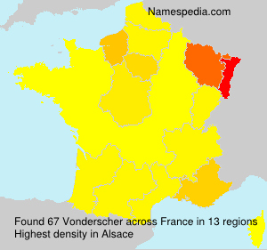 Surname Vonderscher in France