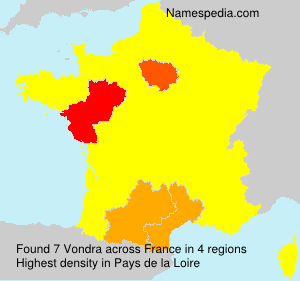 Surname Vondra in France