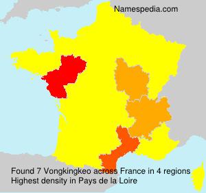 Surname Vongkingkeo in France