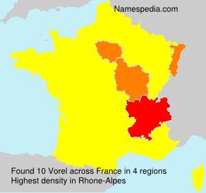 Surname Vorel in France