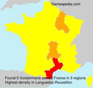 Familiennamen Vorstermans - France