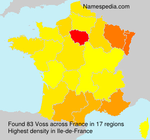 Familiennamen Voss - France