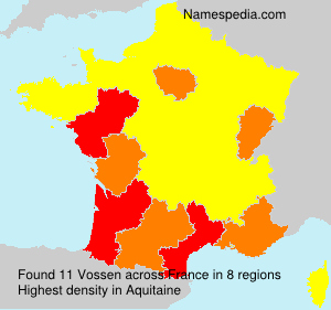 Surname Vossen in France