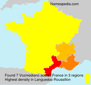 Surname Vozmediano in France