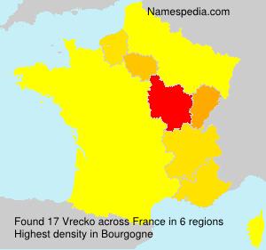 Surname Vrecko in France