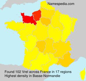 Surname Vrel in France