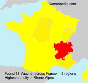 Surname Vuachet in France
